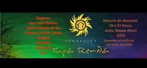 Con una misa la fundación Tupá Rendá celebrará sus tres años de servicio