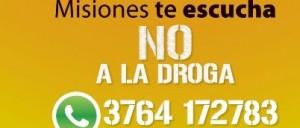 """""""Misiones Te Escucha, No a la Droga"""",  un medio para consultar y pedir ayuda"""
