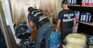 Cuatro detenidos y elementos secuestrados que habían sido robados