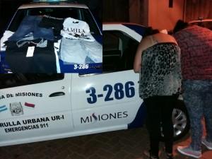 Detuvieron a tres mujeres y recuperaron prendas robadas de un local céntrico