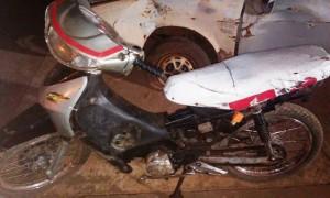 Dos hombres detenidos por evadir un control y circular con una moto sin papeles