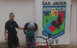 San Javier: cayó Ñoñito por robar una bicicleta