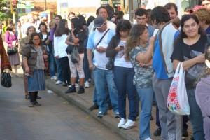 Protesta de choferes causó demoras  en el servicio de transporte urbano