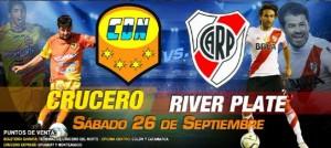 Una buena para los que viajan a Chaco, Crucero-River se juega el sábado 26 y no el domingo 27