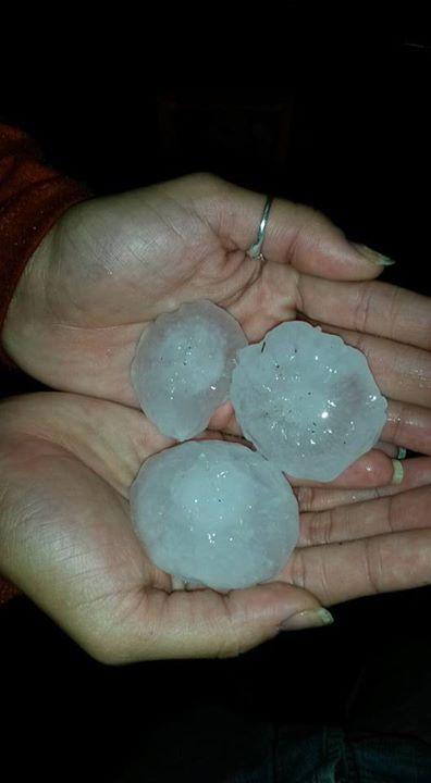 Terrible tormenta con granizo azotó las localidades de Iguazú y San Pedro
