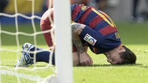 Messi sufrió la rotura de ligamento interno y no jugará unas ocho semanas