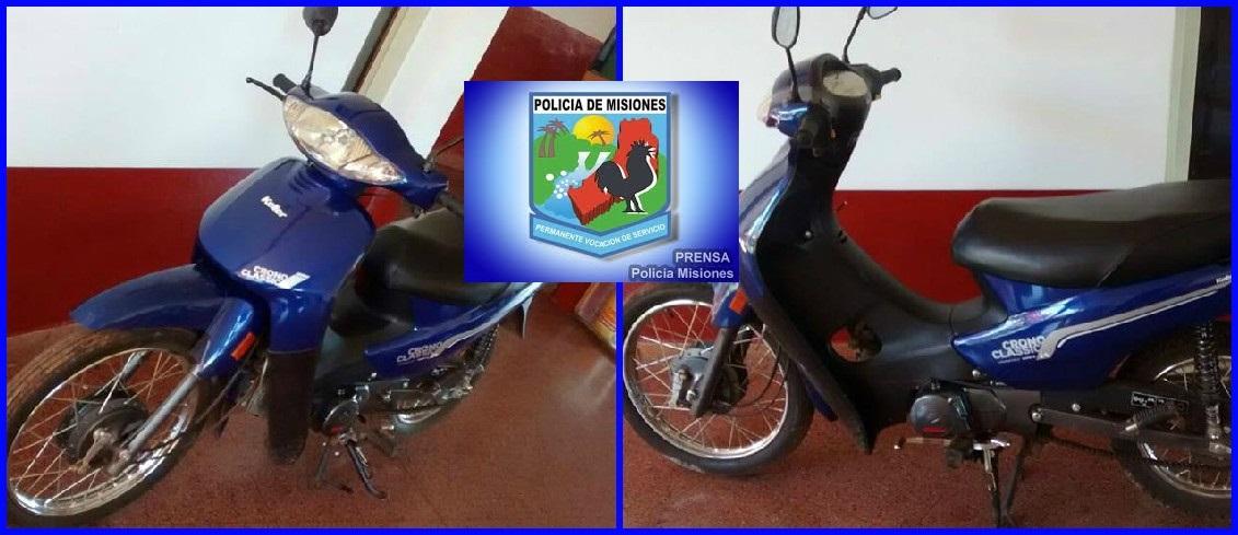 Recuperaron moto en la zona Sur de Posadas