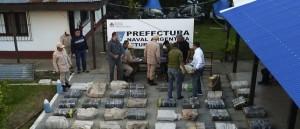 Prefectura incautó más de media tonelada de marihuana en Eldorado y Corpus con dos detenidos