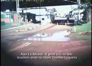 La televisión brasileña mostró el tráfico de armas en la frontera entre Dionisio Cerqueira y Bernardo de Irigoyen