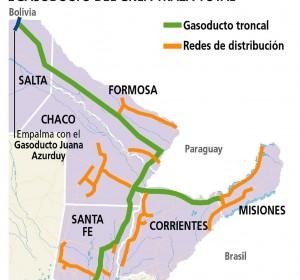 Gasoducto del NEA: llaman a licitación para construir la red troncal que llegará a Misiones