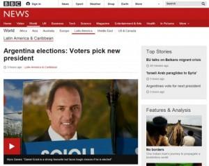 Cómo reflejó la prensa internacional las elecciones presidenciales  en la Argentina
