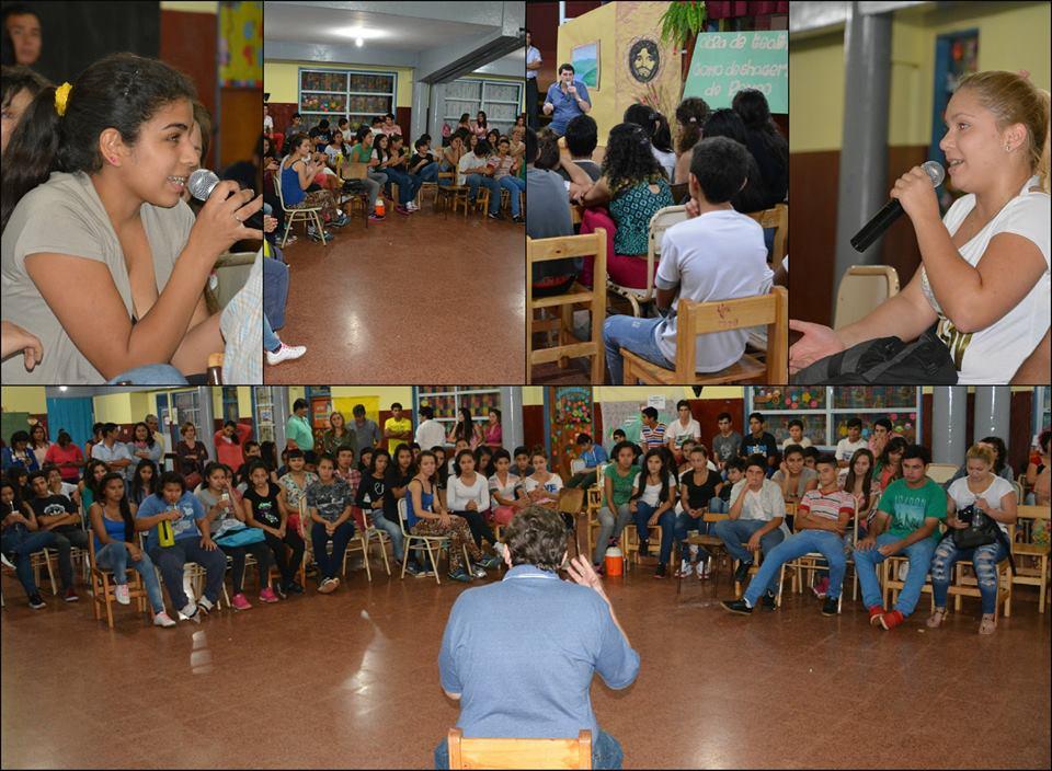 Apóstoles: Adolfo Safrán participó de una charla-debate en la escuela del barrio Estación