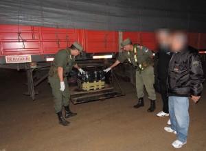 Gendarmería secuestró casi 800 kilos de marihuana y detuvo a dos hombres