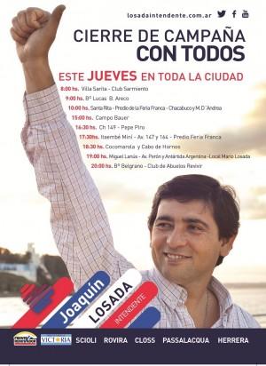 Con nueve actos Joaquín Losada cierra su campaña en Posadas