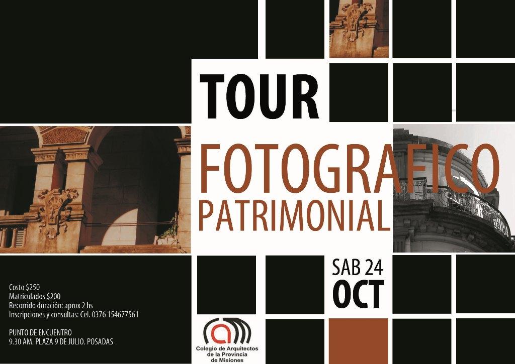 Realizarán el Primer Tour Fotografico de Patrimonio en Posadas