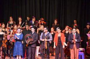 Los Grillitos Sinfónicos deleitaron a los misioneros con tango y rock