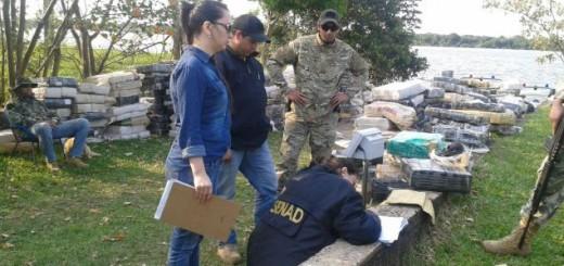 Secuestraron cerca de Encarnación 16 toneladas de marihuana con presunto destino a la Argentina