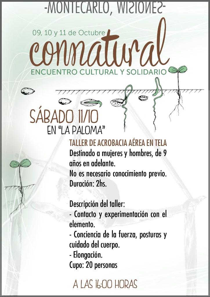 CONNATURAL, tres días de encuentros culturales solidarios en Montecarlo