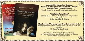 """Eduardo Galiana presentará en la Posadas el libro """"Cautivas Correntinas"""""""