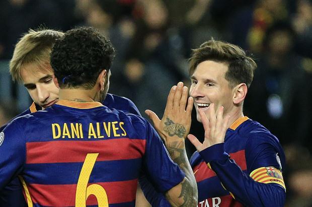 Con dos tantos de Lionel Messi, Barcelona goleó a la Roma en el Camp Nou