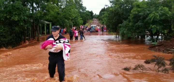 Temporal afectó 250 familias en el centro y sur de Misiones
