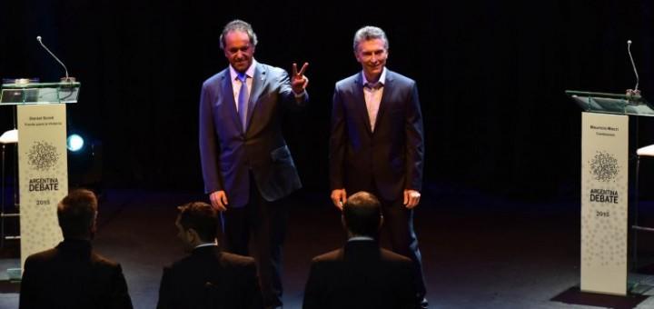 Scioli y Macri protagonizaron un histórico debate presidencial