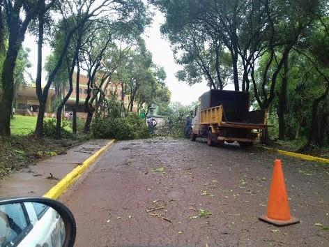 Varias localidades afectadas por el temporal de hoy
