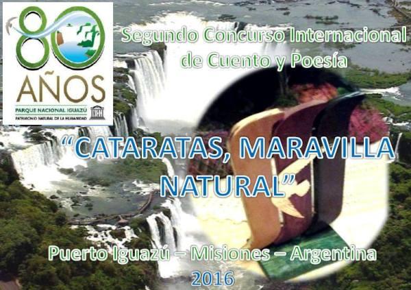 Lanzan II concurso internacional de cuento y poesía de las «Cataratas, Maravilla natural»