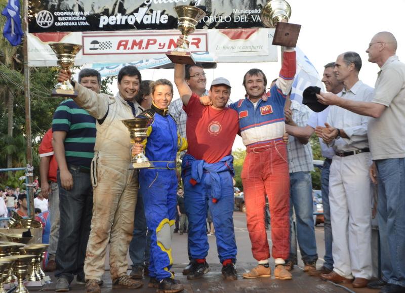 César Vidal Rodríguez, Basilio Cymbalisty y Maxi salieron campeones del Rally Misionero en Aristóbulo