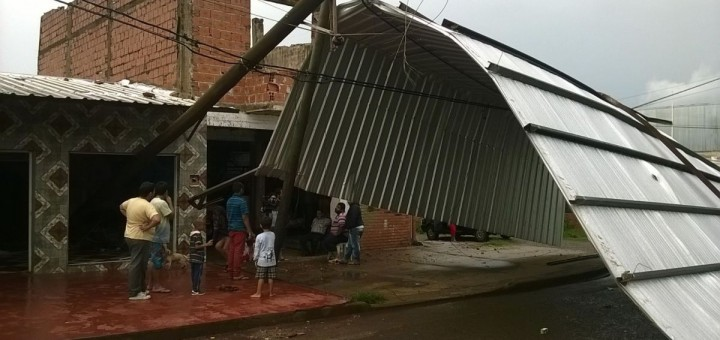 Vientos de hasta 100 km/h arrancaron árboles, carteles y postes y destecharon casas en parte de la provincia