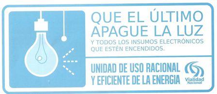 Vialidad Nacional trabaja en el uso eficiente de la energía