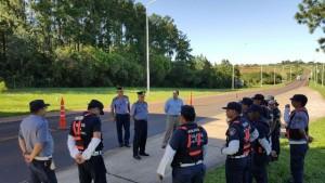 El Jefe de Policía y el Ministro de Gobierno recorrieron los distintos operativos de seguridad