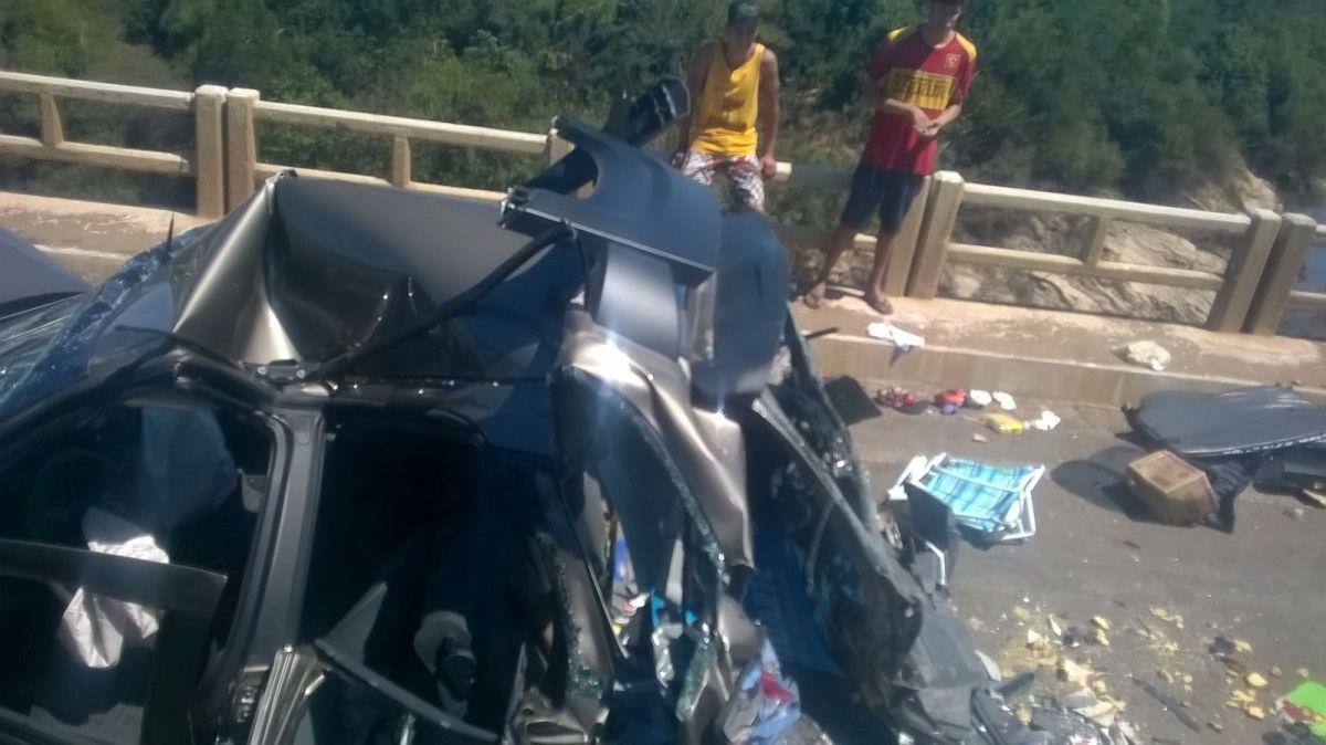 Seis autos argentinos chocaron en Brasil y hay cuatro heridos