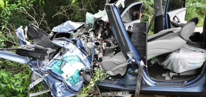 Familia de Misiones sufrió un grave accidente de tránsito camino a las playas de Brasil