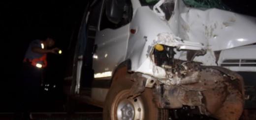 En Jardín américa murió un conductor tras el despiste de una furgoneta