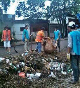 La Municipalidad recolectó 110 cargas de basura en un intenso operativo de limpieza en la ciudad