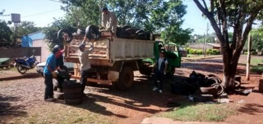 #Todoscontraeldengue: la Municipalidad de Posadas habilitó una línea para retirar cubiertas y ya recolectaron 750