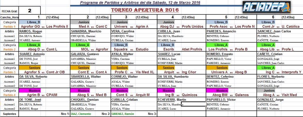 Aciadep: Los partidos y horarios de la 2da fecha de los «Inter» que se juega el sábado