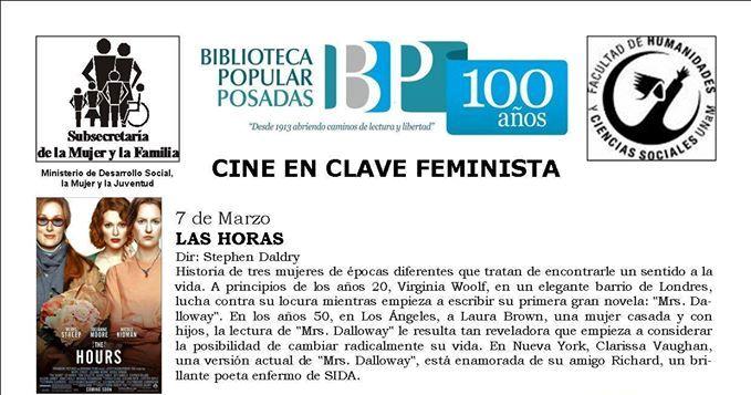 Durante marzo cine en clave feminista en la Biblioteca Popular de Posadas
