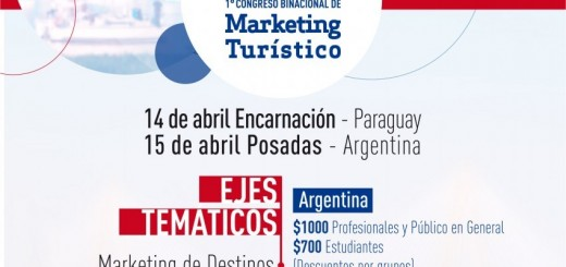 En abril se realizará el 1º Congreso Binacional de Marketing Turístico