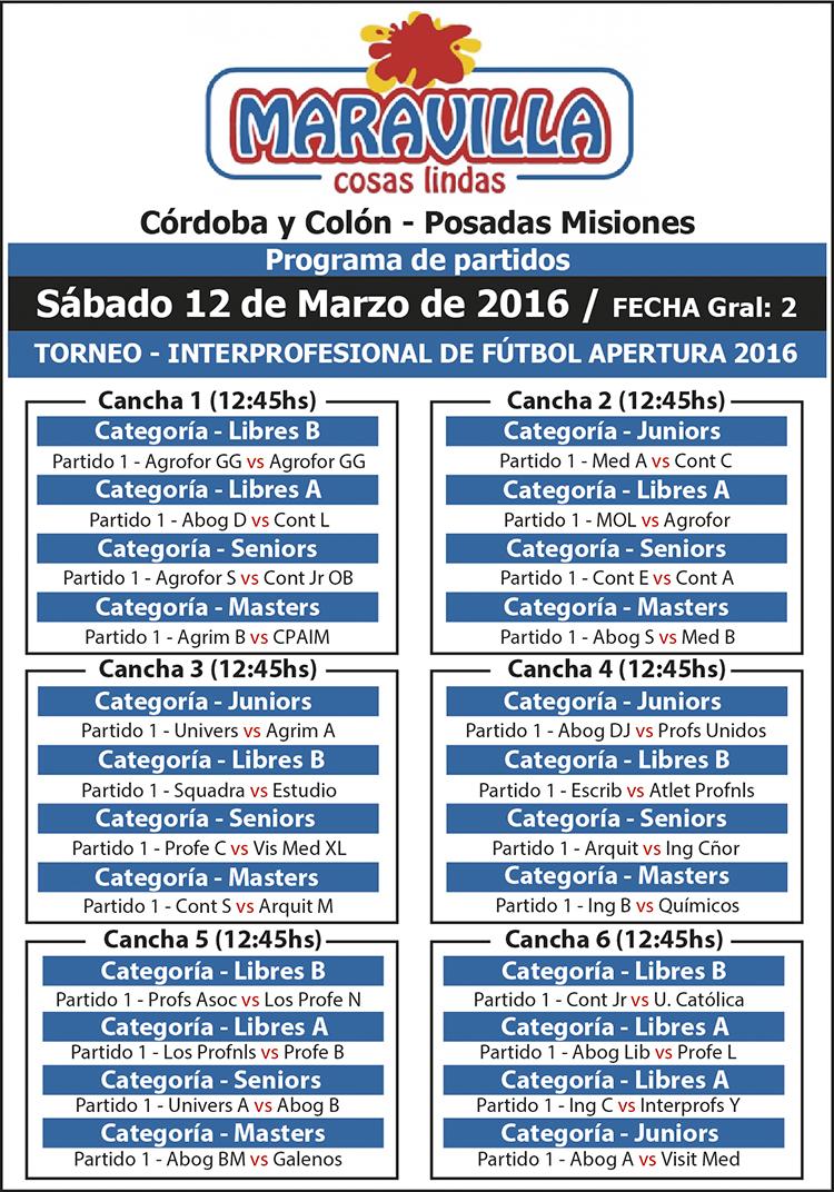 Hoy se jugará la segunda fecha del torneo de fútbol de los profesionales en Posadas