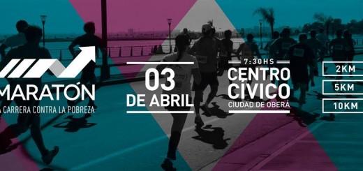 """El sábado en Oberá se correrá la """"Maratón contra la pobreza"""""""