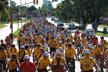 Hoy realizará en Posadas la bicicleteada solidaria del Colegio Roque González