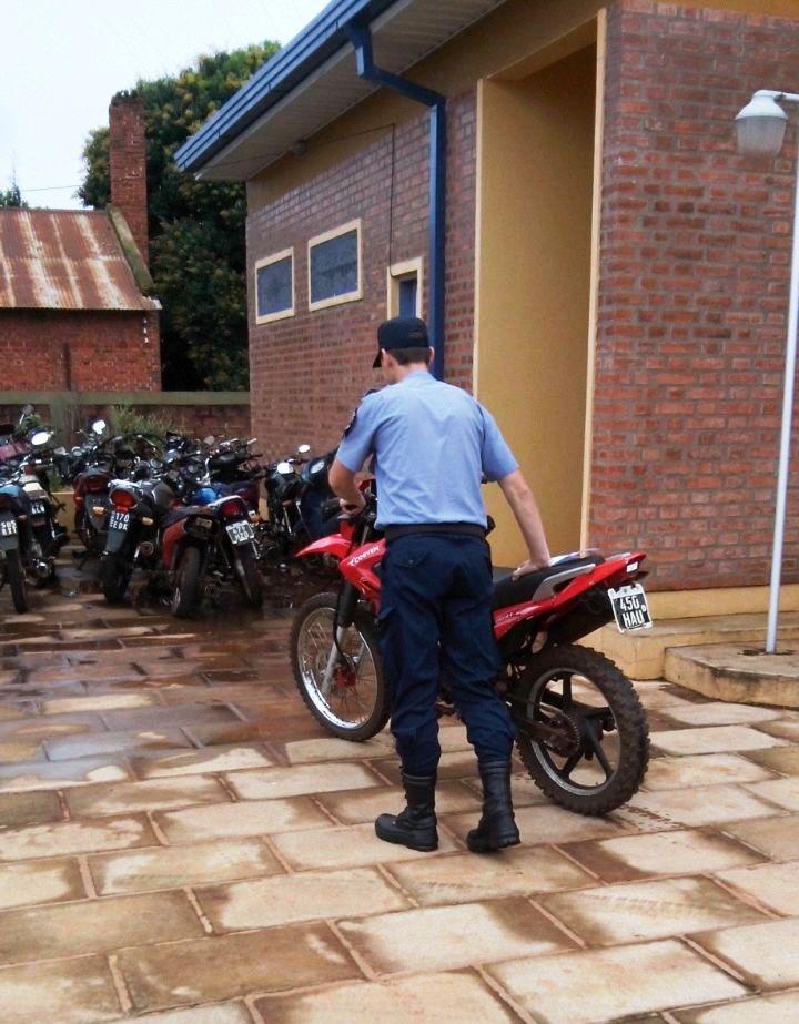 Recuperan moto robada en diciembre