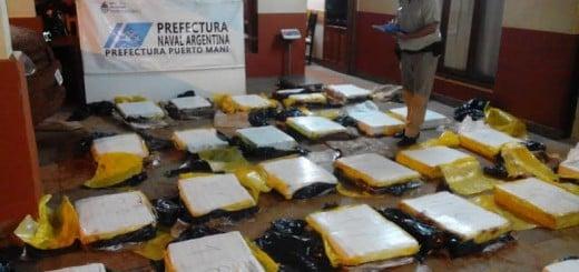 Prefectura secuestró más de 750 kilos de marihuana en Puerto Maní