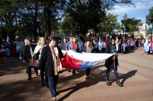 Leandro N. Alem también rindió homenaje a la Patria