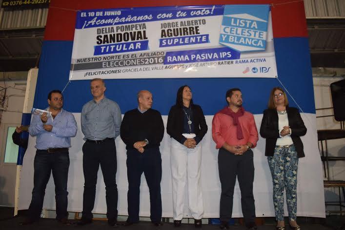 Gran acto en apoyo a la lista Celeste y Blanca del IPS