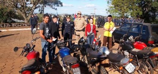 Se realizó el acto de restitución de vehículos robados en Brasil y recuperados por la Policía de Misiones