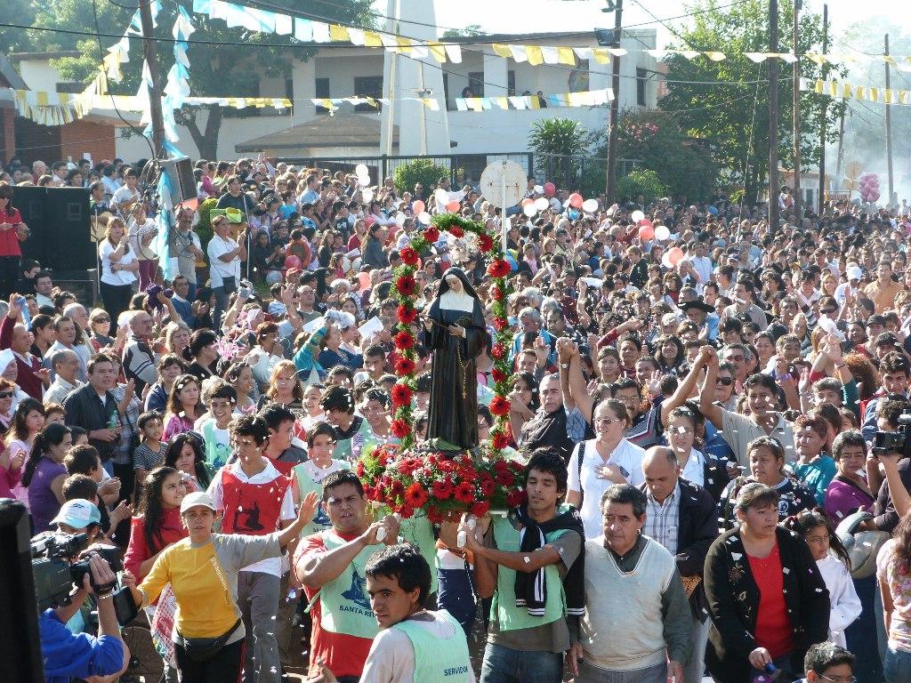 Este domingo 22 se realiza la tradicional procesión hasta la Parroquia Santa Rita