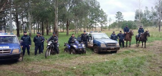 La policía realizó un amplio operativo en zonas rurales de Apóstoles
